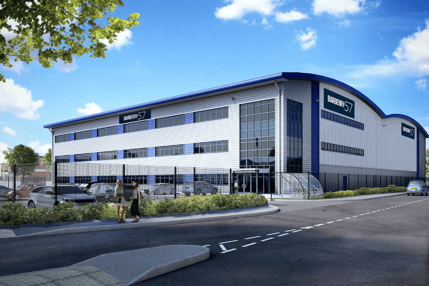 An artist's impression of the Barberry 57 development at the Advanced Manufacturing Hub in Birmingham.