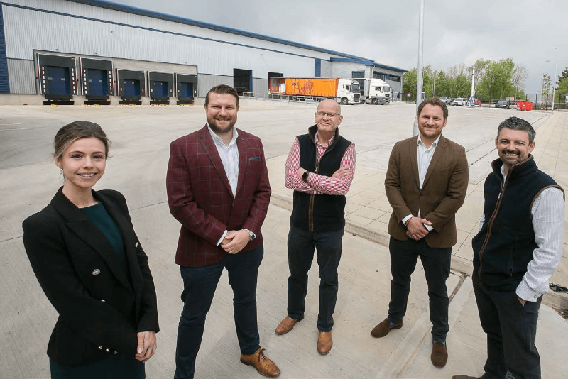 (from left): Emilie Douglas and Jonathan Robinson, of Barberry, are joined by Simon Norton, of Colliers, Rob Watts, of Avison Young, and Christian Smith, of Savills.