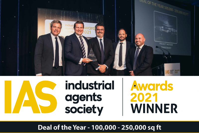 (from left) Mark Durden-Smith, Jon Robinson of Barberry, Charlie Howard of Logicore, Henry Bellfield of Barberry and Gordon Reynolds of Cushman & Wakefield.