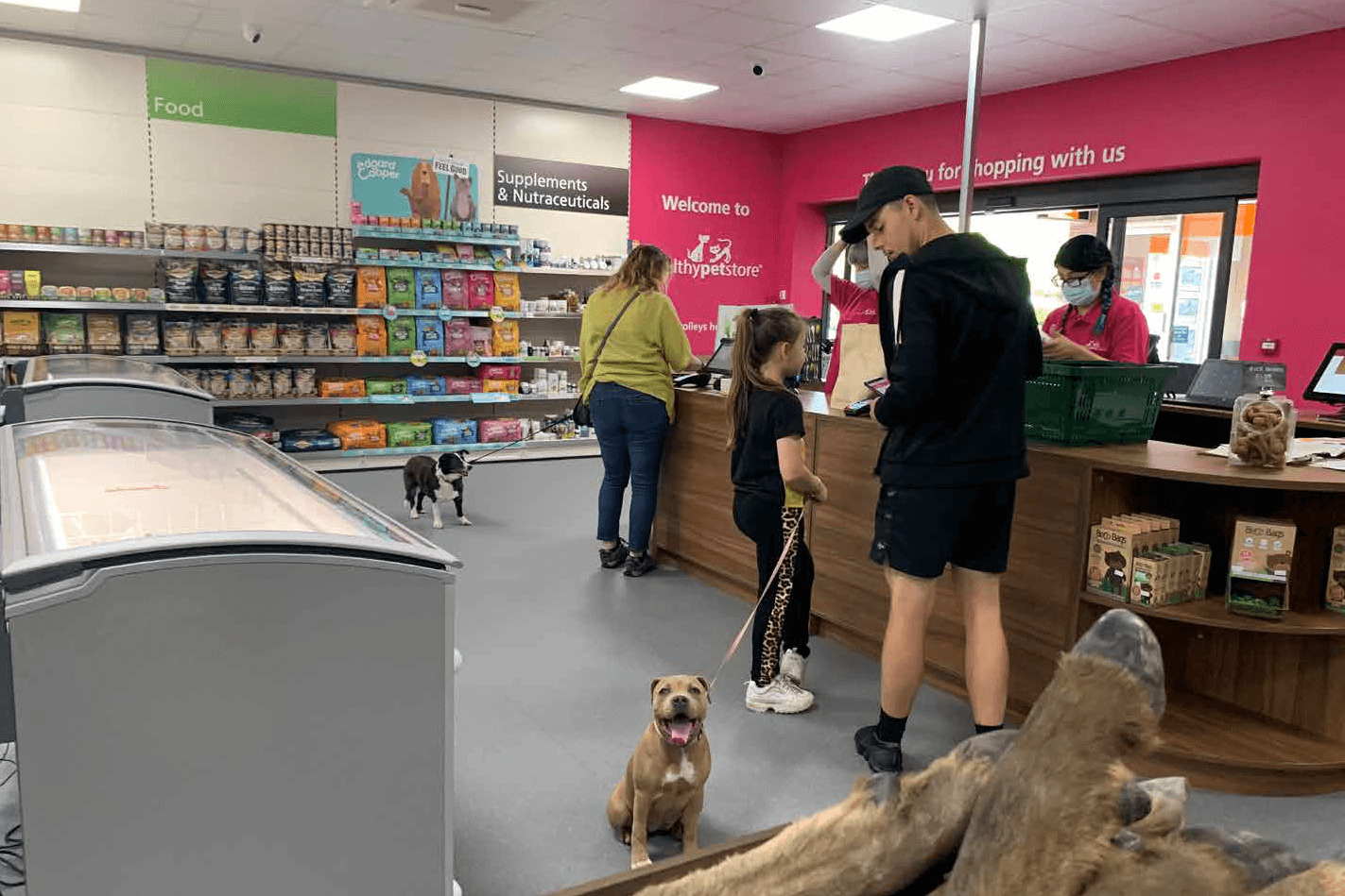 Healthy Pet Store's newly refurbished unit in Totton