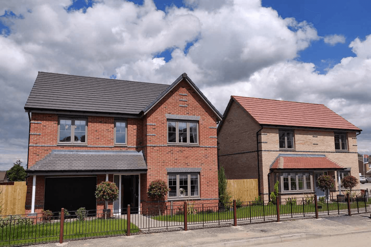 Two showhomes at De Rhodes Point, Chesterfield, which have been acquired by Barberry Group as part of a £7 million investment.